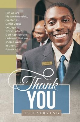 Thank You for Serving (Ephesians 2:10, KJV) Bulletins, 100   -