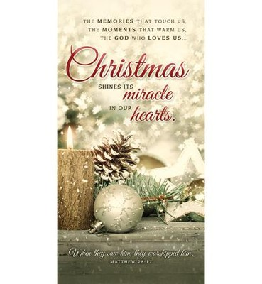 Christmas Shines Its Miracle (Matthew 28:17) Offering Envelopes, 100  -