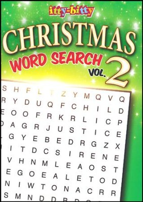 Christmas Word Search and More, Volume 2: itty Bitty  Activity Book  -