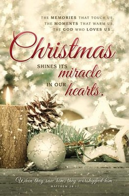 Christmas Shines Its Miracle (Matthew 28:17) Bulletins, 100  -