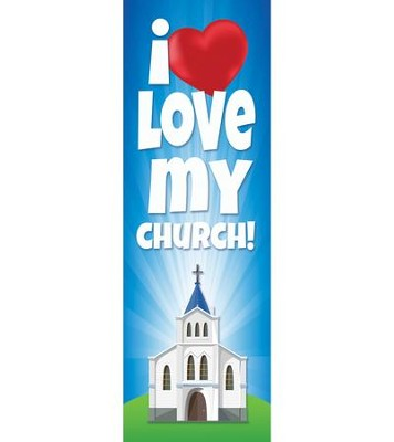 I Love My Church (Psalm 122:1, NKJV) Bookmarks, Pack of 25  -