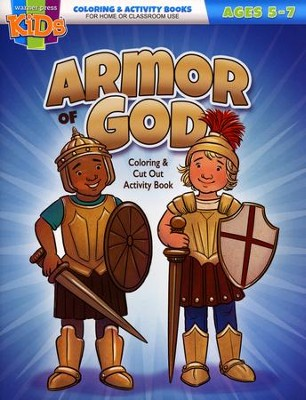 Armor of God Coloring & Cut Out Activity Book--Ages 5 to 7  -