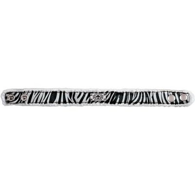 Zebra Cross, Canvas Bracelet  -