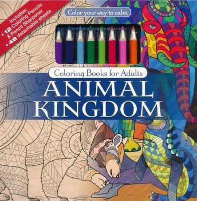Animal Kingdom Coloring Book With Colored Pencils