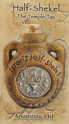 Anointing Oil Flask with Hebrew Coin Design  -     By: Holy Land