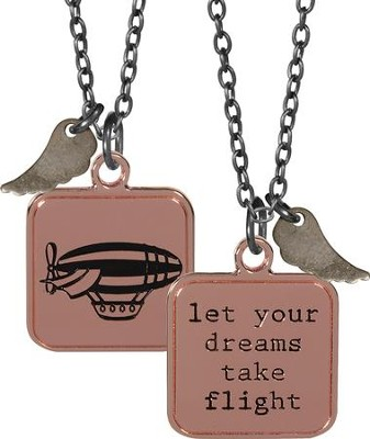 Let Your Dreams Take Flight, Charm Pendant  -