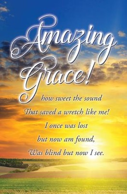 Amazing Grace Sunset Bulletins, 100   -