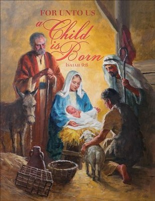 A Child is Born (Isaiah 9:6, KJV) Tabloid Bulletins, 100   -