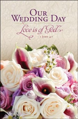 Our Wedding 1 John 4:7 (KJV) Bulletins, 100   -