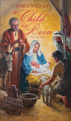 A Child is Born (Isaiah 9:6) Announcement Folders, 100  -