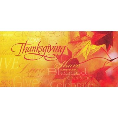Words of Thanksgiving Offering Envelopes, 100  -
