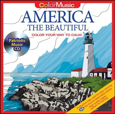 America the Beautiful - Color with Music   -