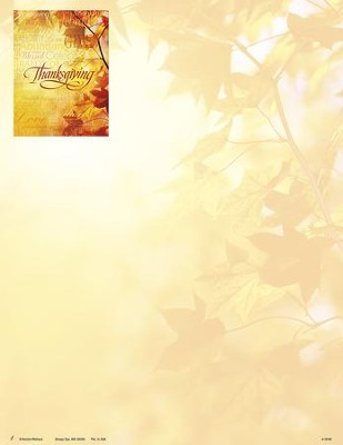 Words of Thanksgiving Letterhead, 100  -