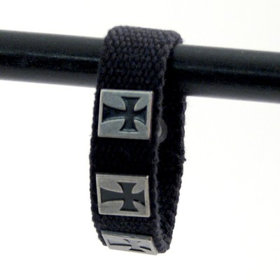 Three Crosses, Canvas Bracelet  -