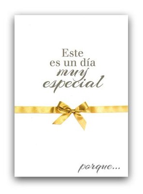 Un dia muy especial, tarjeta (Salmos 118:24); A very special day, card (Psalm 118:24)  -