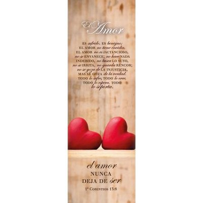 El amor (1 Corintios 13:8) Bookmarks, 25pk  -