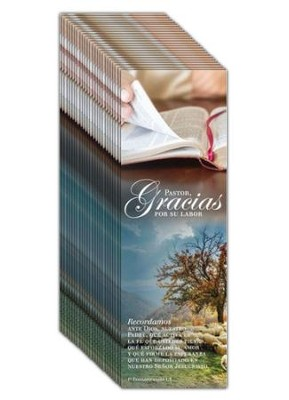Pastor gracias (1 Tesalonicenses 1:3) Bookmarks, 25pk  -