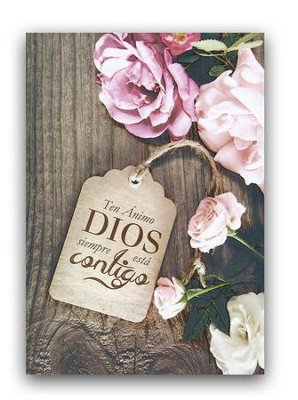 Ten animo, tarjeta (Isaias 41:10); Have Courage, Encouragement Card (Isaiah 41:10)  -