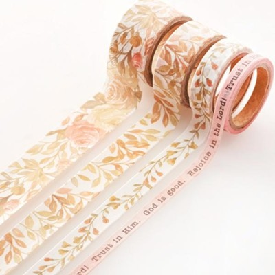 Floral Washi Tape, 4 Pieces  -