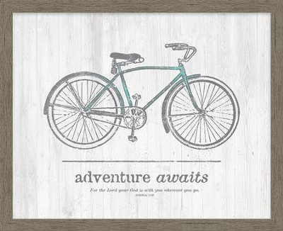 Adventure Awaits. For the Lord Your God is With You Wherever You Go Framed Canvas  -