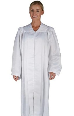 Traditional Choir Robe, White, Large  -