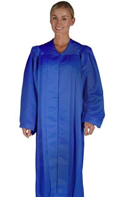 Traditional Choir Robe, Dark Royal Blue, Medium  -