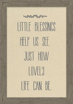 Little Blessings Help Us See Just How Lovely Life Can Be Framed Canvas  -