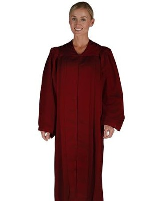 Traditional Choir Robe, Burgundy, Large  -