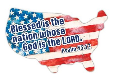 Blessed Is the Nation Whose God is the Lord, Car Magnet  -