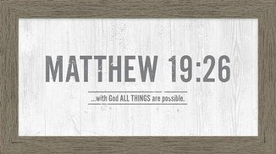 With God, All Things Are Possible, Framed Canvas  -