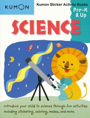 Science Sticker Activity Book, Grades Pre-K & Up   -