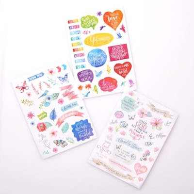 Stickers for Bible Journaling, 3 Sheets  -