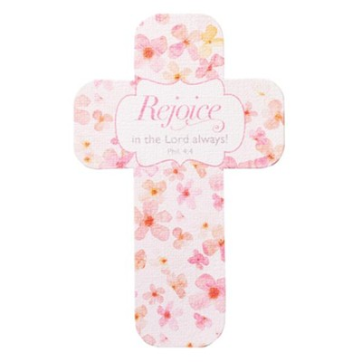 Rejoice in the Lord Always, Cross Bookmark  -