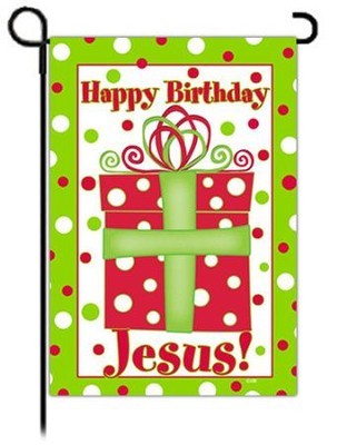 Happy Birthday Jesus Flag, Small  -