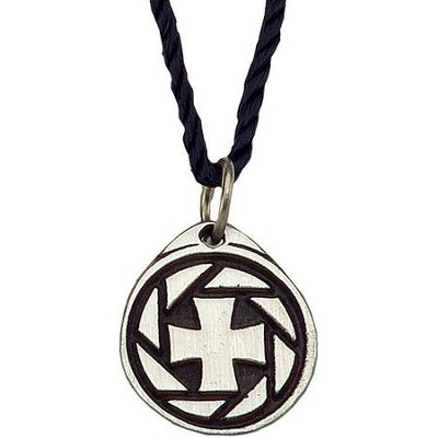 Oval Cross Pendant, Christ's Love 3/4 inch  -