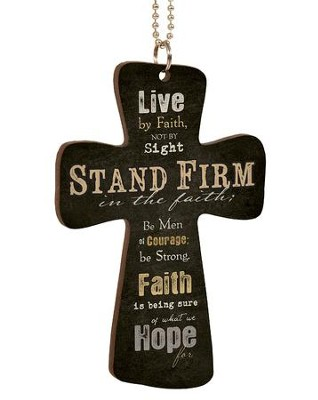 Stand Firm, Cross Car Charm  -