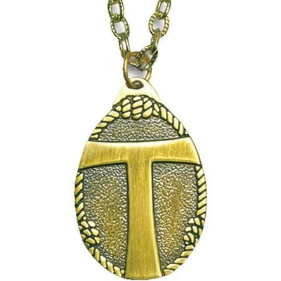 Tau Cross with Knots Pendant  -