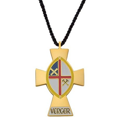 Verger's Cross with Episcopal Shield  -