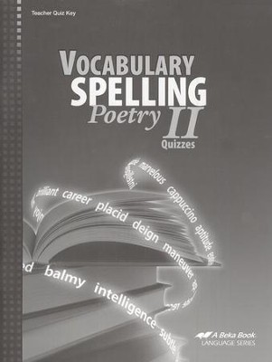 Abeka Vocabulary, Spelling, & Poetry II Quizzes Key   -