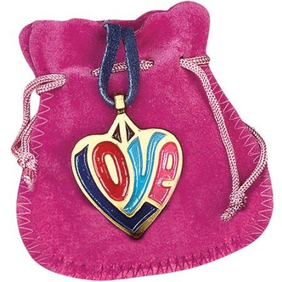 Love Pendant with Pink Pouch  -