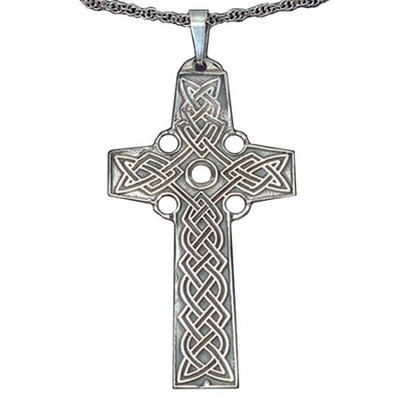 Celtic Cross Pendant Sterling Silver   -