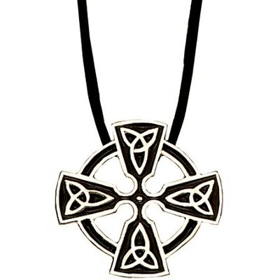 Sterling Silver Celtic Trinity Cross Pendant  -