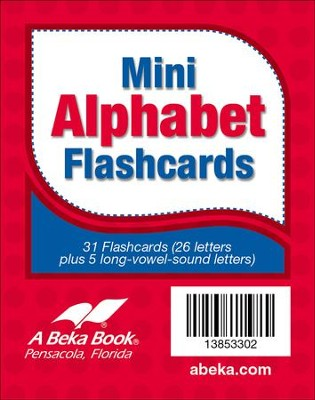 Abeka K4-K5 Miniature Alphabet Flashcards (31 cards)   -