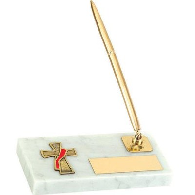 Deacon Cross Pen Stand  -