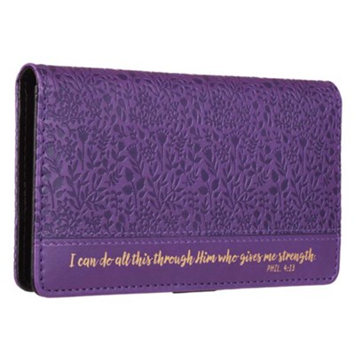 I Can Do All This Through Him, Checkbook Cover  -