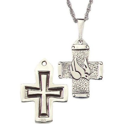 Scripture Cross Pendant 1 inch  -