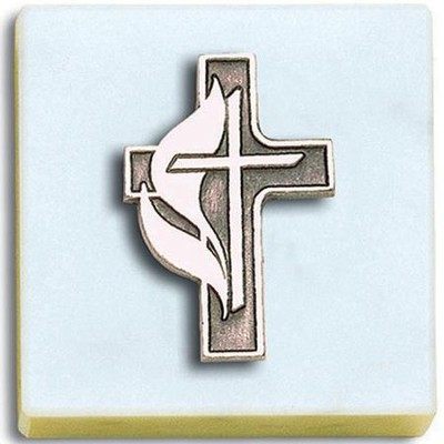 Paperweight, Methodist with Cross   -