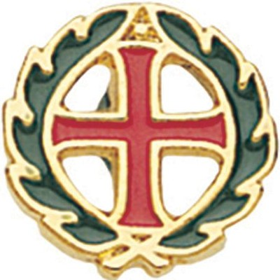 Cross & Crown Pin  -