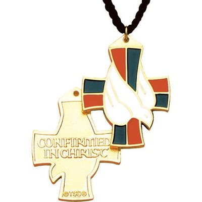 Confirmation Cross Pendant with Dove   -