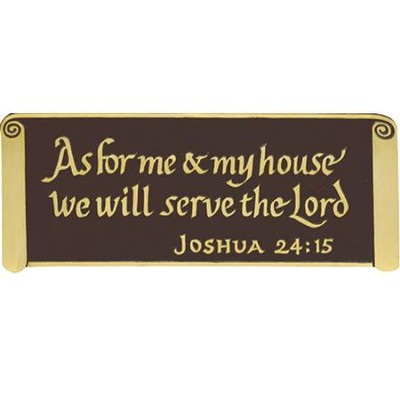 As For Me Wall Sign, 4 inch  -
